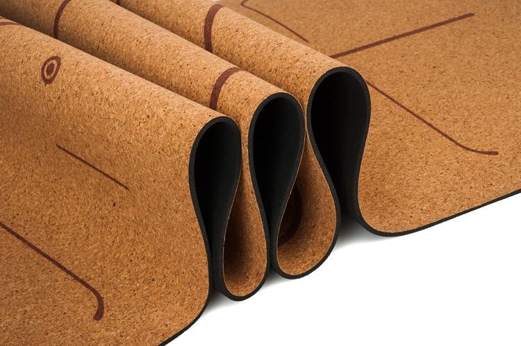 183x68x0.5cm Natural Cork TPE Yoga Mat For Floor Pilates Gym Exercise+Carry Bag