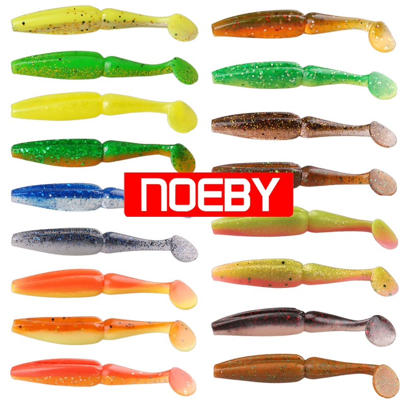 Noeby 2bags rubber fishing bait soft lure swim for Rubber fishing worms