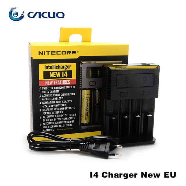Nitecore I4 Cargador Universal E Cigs Cigaretters Electrónicos Cargador de Batería para 26650 18650 18350 Batería