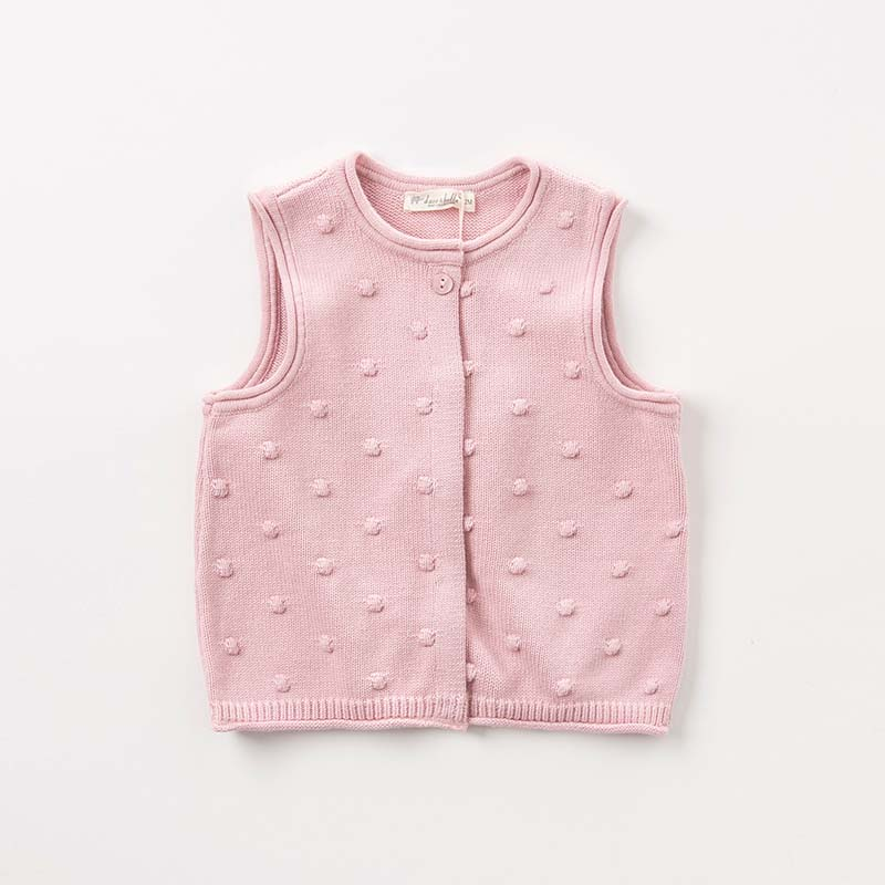 79f996157a85 DBA7960 dave bella autumn baby sleeveless knit vest girls lovely ...