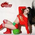 2014 New Fashion harem ds women hip hop dance costume set letter Print Dance performance wear Cheerleading shorts & Top
