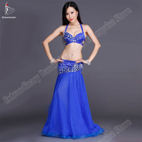 Belly Dance Bra And Skirt Costumes Oriental Dance Suit Women Professional Carnival Top Rhinestone Adjustable Long Skirt Egyptian