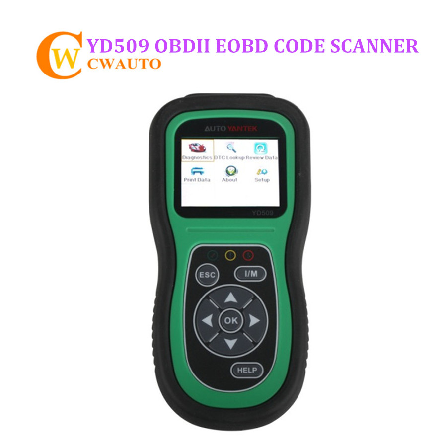YD509 OBDII EOBD CAN Auto Code Scanner Support Multi languages