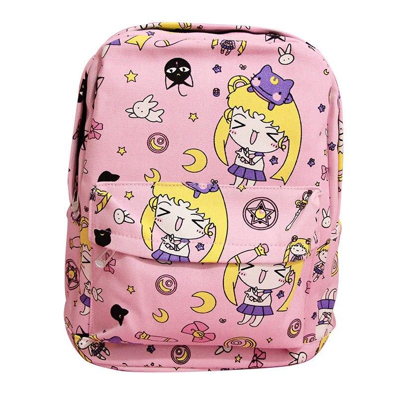 Luggage & Bags Cartoon Card Captor Sakura Canvas Backpack Sailor Moon Harajuku Students School Bag Rucksack Teenage Girls Mochila Feminina New