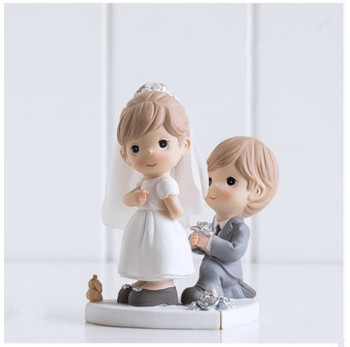 """""""Will You Marry Me ? """" Wedding Cake Topper Engagement Cake Topper Figurines Propose Marriage Party Decoration Gifts Favors"""