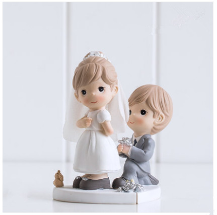 Will You Marry Me ? Wedding Cake Topper Engagement Cake Topper Figurines Propose Marriage Party Decoration Gifts Favors