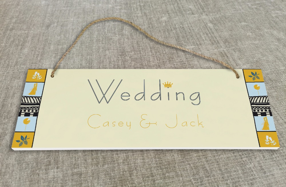 Personalized Outdoor Wedding Reception & Ceremony Decoration Directional Signs wedding sign board simple SB023H