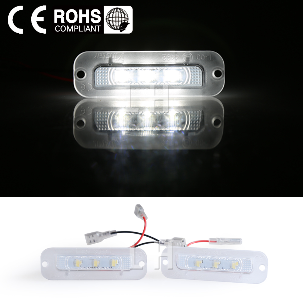 2x New White Led Number License Plate Lamp Lights For Benz W463 G Class G500 G550 G63 AMG G65 1990-2012 smaart v 7 new license