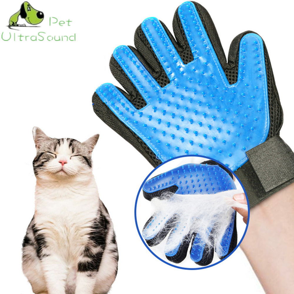 Ultrasound Pet Silicone Cat Gloves Hair Comb Pet Bath Brush Gentle Efficient Massage Grooming Washing Gloves Hair Pet Finger