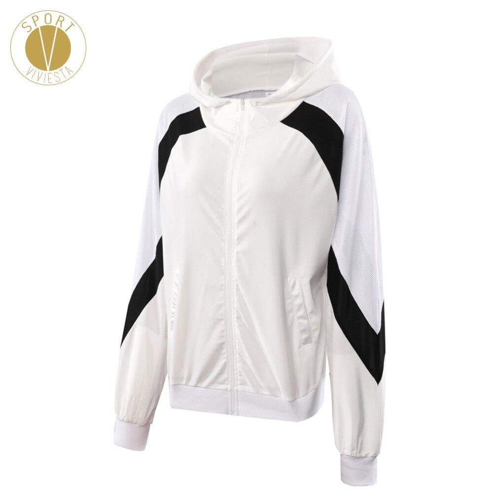 3c0e6474e Vintage Hooded Track Jacket Women s Gym Run Workout Active Stylish ...