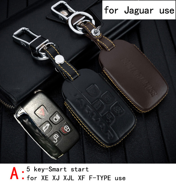 Genuine Leather CAR KEY CASE For JAGUAR XE XJ XJL XF F-TYPE Use Automobile Special-purpose CAR KEY HOLDER