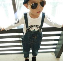 Осень новые поступления детские джинсовые комбинезоны мальчик девочка CHEKELL детская сгустите обтяжку брюки ребенком джинсы бесплатная доставка