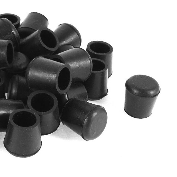 Boutique  40 Pcs Black Rubber Chair Table Feet Pipe Tube Tubing End Caps 14mm