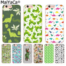 MaiYaCa animales dinosaurios lujo TPU goma teléfono funda para iPhone 8 7 6 6 S Plus X 10 5 5S SE XR XS MAX Coque Shell(China)