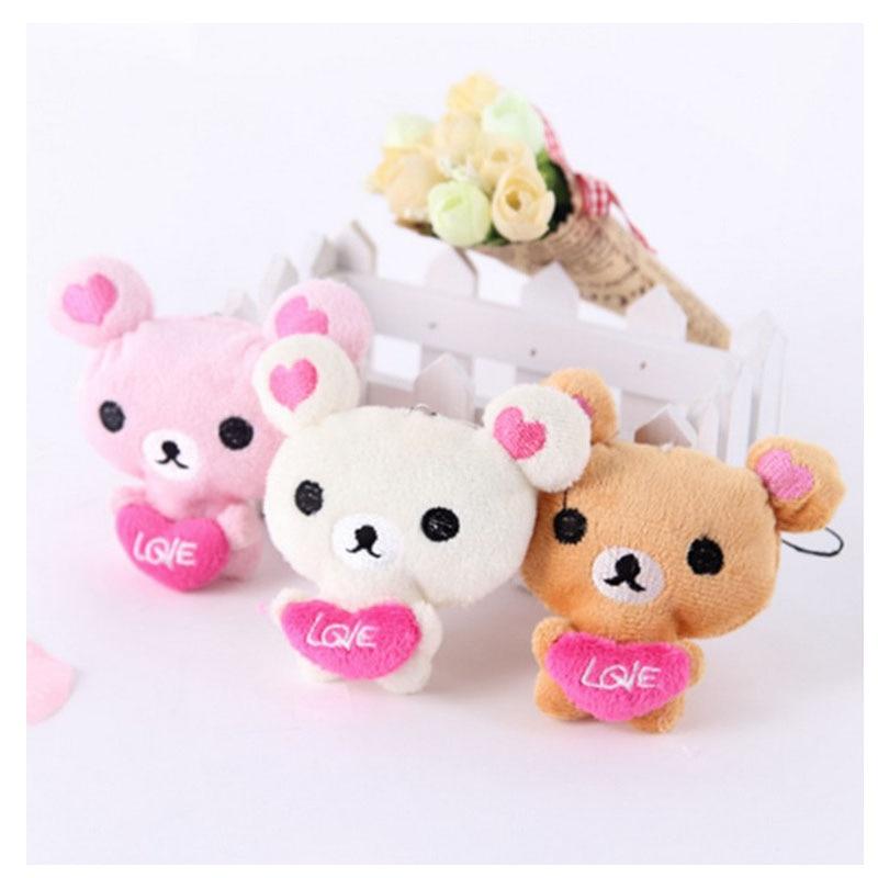 Lindo mini oso de peluche juguete de felpa colgante regalo del día de los niños