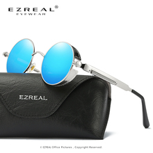 EZREAL New Fashion Brand Designer Polarized Sunglasses Women Reflective Mirror Sun Glasses Metal Frame Sunglasses UV400 A372