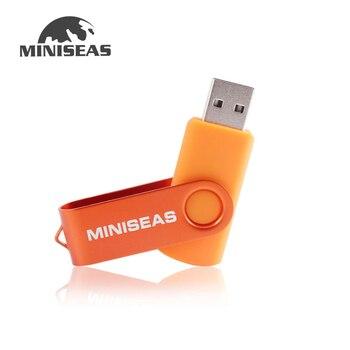 Miniseas Usb Flash Drive Real Capacity Colorful Rotate Key 128G/16G/32G/64G Memory USB Stick Pen Drive Pendrive