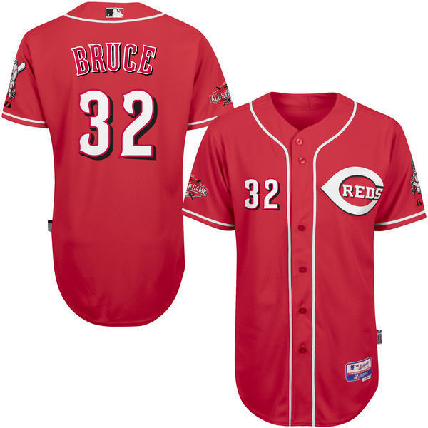 MLB Mens Cincinnati Reds Jay Bruce Baseball Red 6300 All-Star Game Authentic Player Jersey