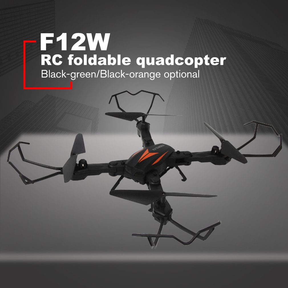 F12W Mini Selfie RC Foldable Quadcopter Drone with Wifi FPV Drone 720P Adjustable Camera Altitude Hold One Key Return RTF