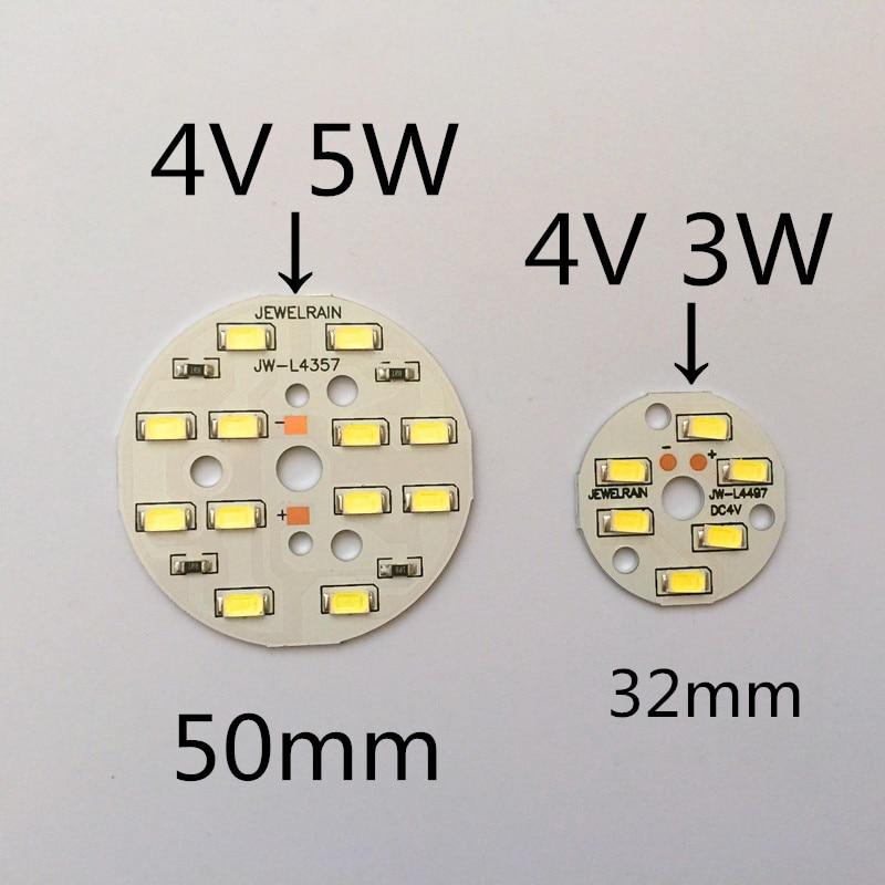 10pcs Small Round Light Board 4 V Strips Light Plate 50 Mm Circular Lamp Board Led Small Round Light Board 5 W