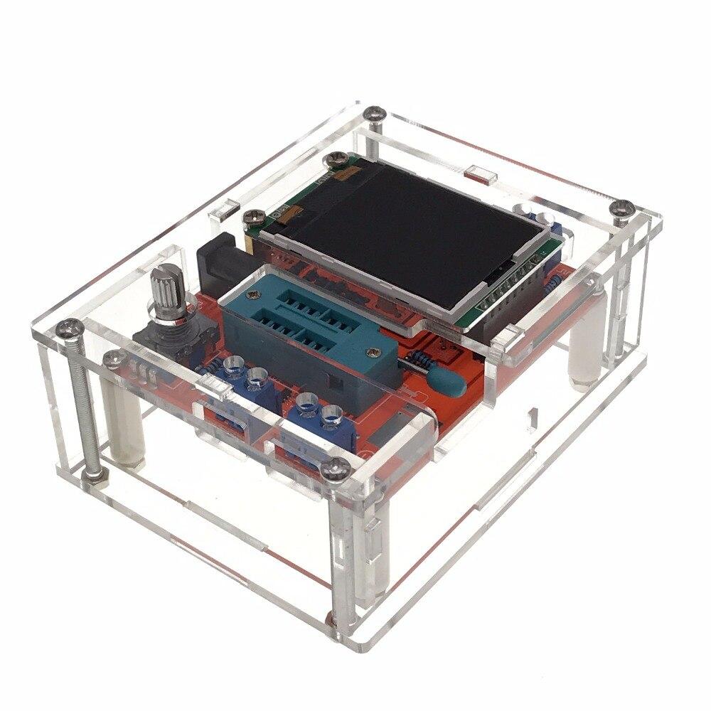 Многофункциональный тестер GM328 Транзистор тестер Диод Емкость СОЭ метр ШИМ меандр генератор сигналов с акриловой