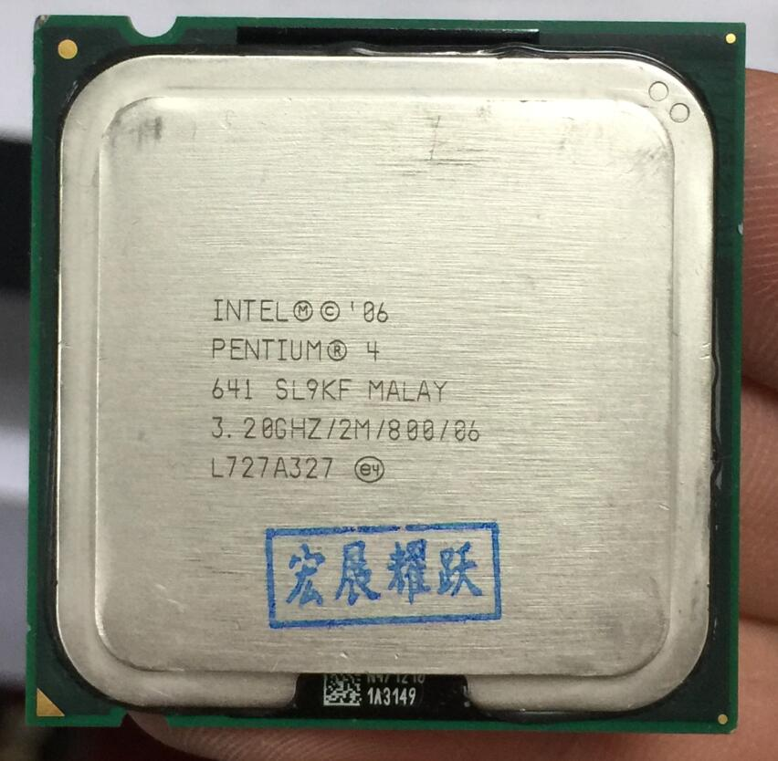 Intel  Pentium 4  641 P4 641 3.2 MHZ 2M 800  Dual-Core CPU LGA 775  100% Working Properly Desktop Processor P4 641 Processor