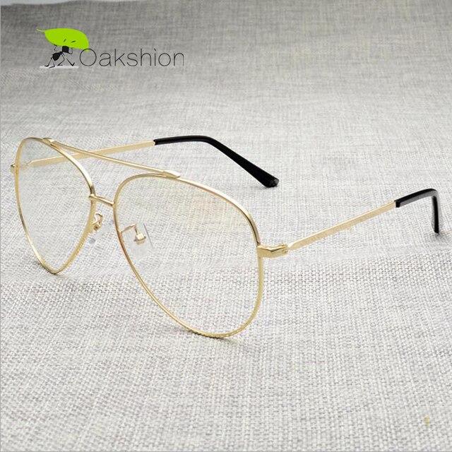 4d36d9c2962 Fashion Gold Glasses Frames Clear Lens Mens Eyeglass Frames Designer Brand  Computer Blue Light Glasses Transparent Retro Women