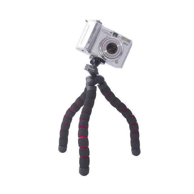 fosoto Medium Octopus Flexible Digital Camera Stand Gorillapod Monopod Mini Tripod with Holder for Gopro hero 2 4 3+ 3 and phone