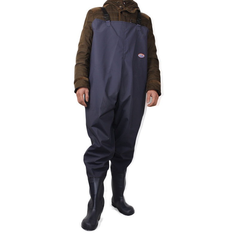 High-Jump 46# One-piece Breathable Chest Waders For Fishing Farming Overalls One-piece Body Clothes Rubber&Plastic Fishing Wader
