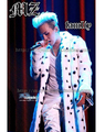 Men's new bigbang rights Zhi-Long GD Beyonce leather grass with white and black spots long fur coat Nightclubs costumes clothing