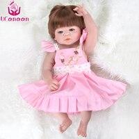 Suave Llena de Silicona Muñecas Reborn Juguetes para Niñas de 50-55 cm Artesanal Renacido Realista Bebe para Niños Regalos bonecas
