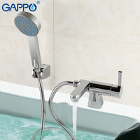 GAPPO 1set High Quality Waterfall Deck Mounted Bathtub Faucet Mixer Cold Hot Water Restroom Sink Torneira