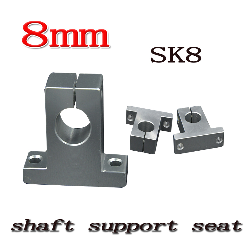 4 pcs/lot SK8 SH8A 8mm linear shaft support 8mm Linear Rail Shaft Support CNC parts 3D printer shaft support оголовок unipump акваробот аос 133 40 ч