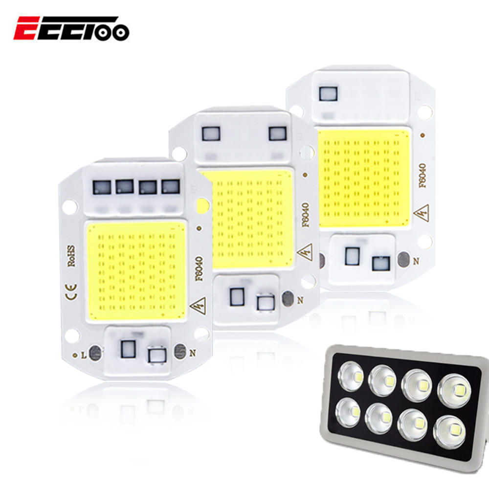EeeToo LED Flood Light Spotlight COB Chip Lamp AC 220V SMD 20W 30W 50W Led Reflector Street Light Outdoor Waterproof Lighting