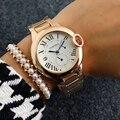 2017 Rose Gold Classic Design Rome Display Watch Luxury Famous Brand Quartz Battery 's Wrist Watches Relogio Feminino
