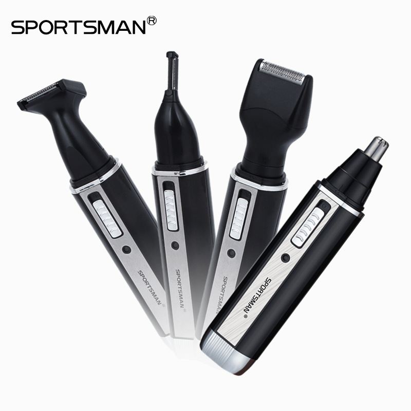 4 in1 Men's Electric Shaver Beard Nose Trimmer Rechargeable Razor for Men Shaving Machine Barbeador Face Care Eyebrows Shaver new kemei nose trimmer 3 in 1 rechargeable electric shaver face care shaving trimmer for nose