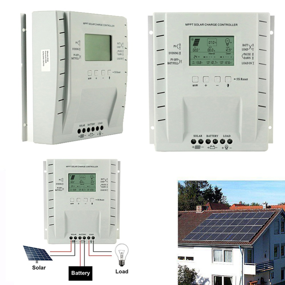 LCD 30/40A Solar Charger Controller Output 12V 24V Solar Panel Regulator with Load Timer and Light Control for Lighting#291052LCD 30/40A Solar Charger Controller Output 12V 24V Solar Panel Regulator with Load Timer and Light Control for Lighting#291052