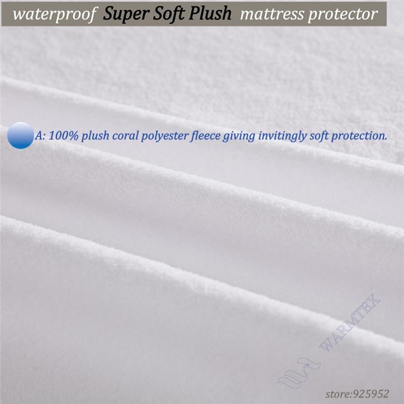 Soft Fleece Protector fit 20-30cm mattress plush cloth 100% Waterproof Mattress Protector/ Mattress Cover Luxury Customized A