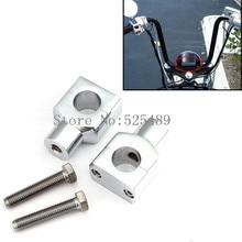 Для Harley Honda Kawasaki Yamaha V-Star/Road Star Suzuki Intruder Marauder Бульвар 2x ЧПУ 1 «мотоцикл 25 мм Руль Стояка