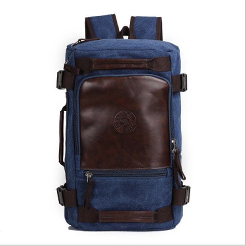Senkey Style Fashion Large Capacity Rucksack Men's Canvas Backpack Multifunction Leisure Travel Men's Laptop Backpacks Bag #6
