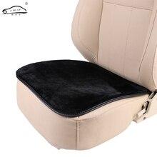 Cubierta de asiento Interior de coche de felpa corta, cojín de asiento cálido suave almohadilla tapete de invierno ajuste Universal para comodidad en Auto, oficina, o hogar