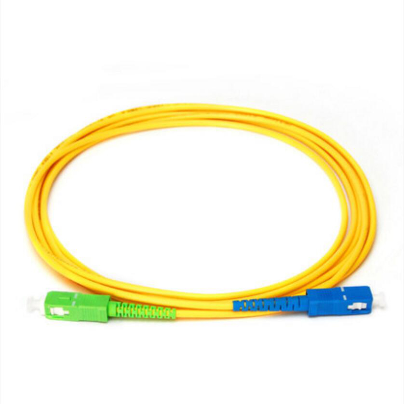3m 10ft SC APC to SC APC Simplex Single Mode Armored PVC Fibrt Patch Cord Cable