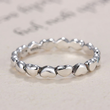 HOMOD Silver Color Stackable Ring Heart to Heart Brand Finger Rings for Women Wedding Anniversary Jewelry 2019 Hots цена