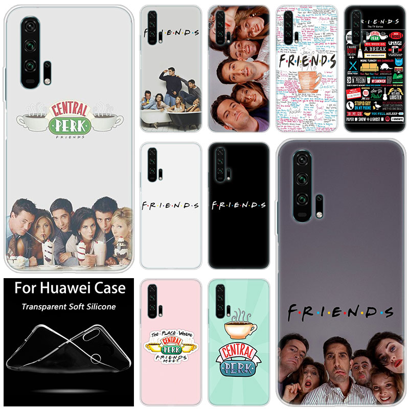 Hot friends tv show Fashion Soft Silicone Case for Huawei Honor 20 8A 7A Pro 10 9 8 Lite View 20 7S 8S 8X 7X 6X 8C 20i 10i Play image