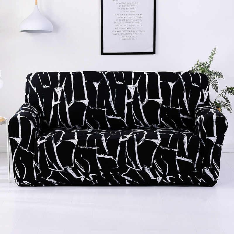 Elastic Sofa Cover Tight Wrap All-inclusive I shaped Sofa Cover Sofa Slipcover Cheap Stretch Furniture Covers 1/2/3/4 seater 1PC