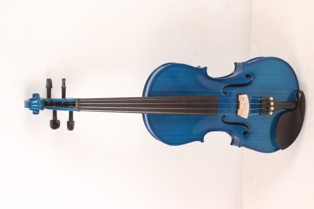 4-String 4/4 New Electric Acoustic Violin blue color   #1-2569# 4
