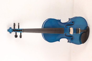 4-String 4/4 New Electric Acoustic Violin blue color   #1-2569#