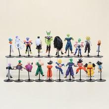 20pcs/set Dragon Ball Z GT Action Figures Crazy Party 10CM Cell/Freeza/Goku PVC Dragonball Figures Best Gift