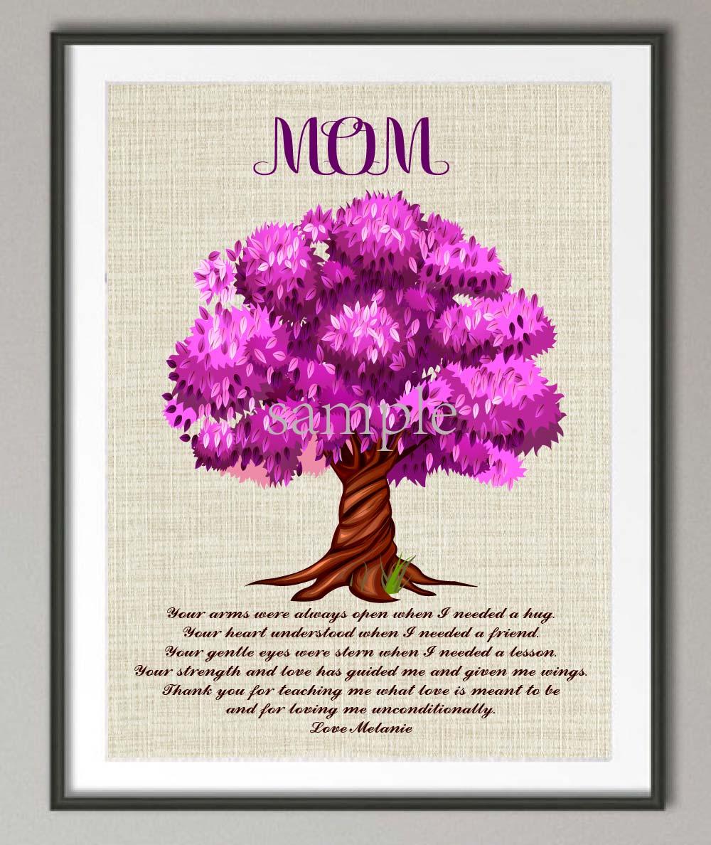 Personalisierten Mutter geschenk von kinder leinwand familie baum ...