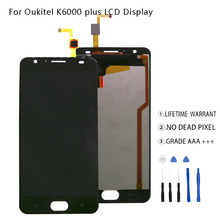 For Oukitel K6000 Plus LCD Display Touch Screen Digitizer For Oukitel K6000 Plus  Display Screen LCD Phone Parts Free Tools цена в Москве и Питере